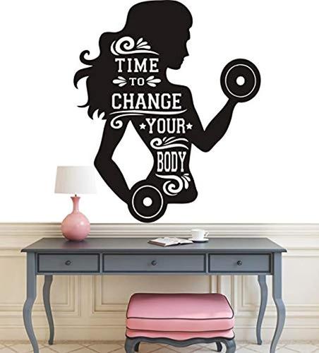 girls gym bodybuilding wall decal removable wall art gi...