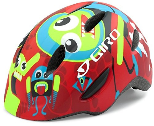 giro scamp casco - niños mate rockets red x-small