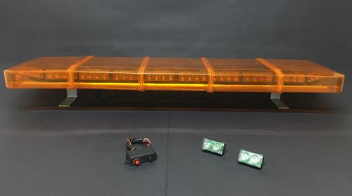 giroflex led 1,00m p/ guinchos suporte fixo + 2 stroboleds