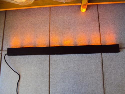 giroflex strobo sinalizador alaranjado 75 cm 14 leds alumini