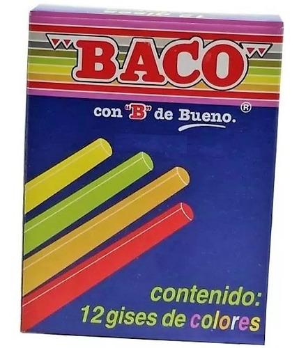 gis de colores caja con 12 pz baco