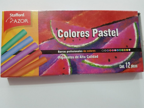 gis pastel seco stafford 12 colores papelería arte dibujo