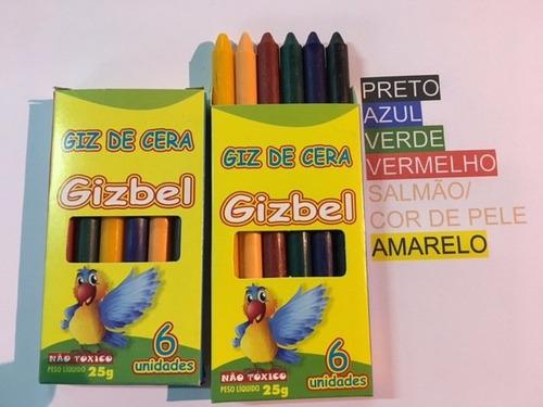 giz de cera -06 cores - 204 unidades