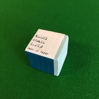 giz kamui bilhar sinuca original japão chalk 1.21 verde
