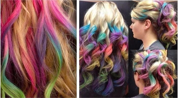 Resultado de imagem para cabelo colorido