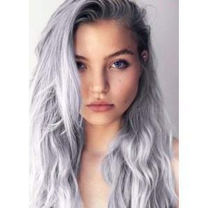 giz pastel para cabelo - collor rub - cor prata