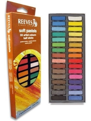 giz pastel seco curto desenho reeves cj 32 cores *frete+bara