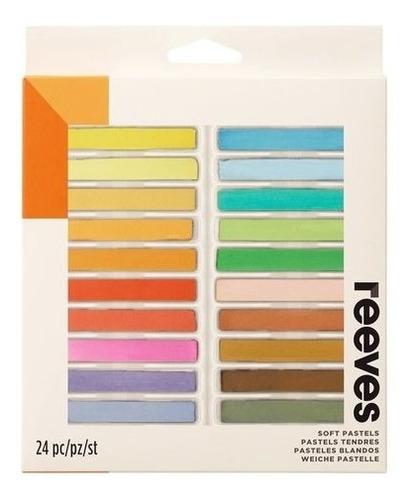 giz pastel seco para desenho conj. com 24 cores reeves