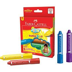 giz super soft com 6 cores - faber castell