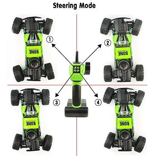 gizmovine rc rock crawler car 4wd 4 modos de dirección imper