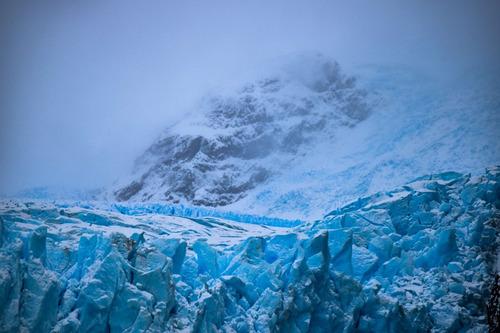glaciar y pico