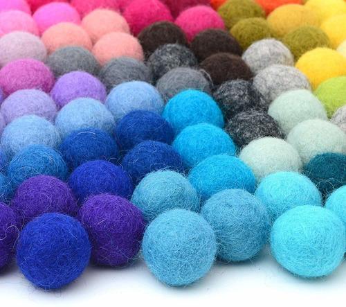 glaciart - pompones de fieltro, bolas de lana (120 piezas