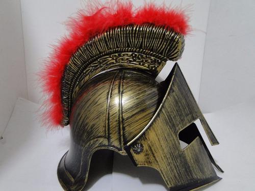 gladiador centurião fantasia romana capacete elmo articulado