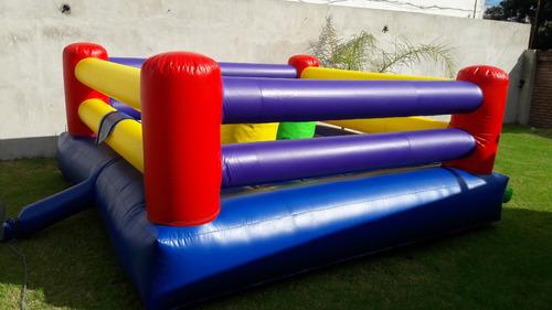 gladiador y ring de boxeo inflables en alquiler