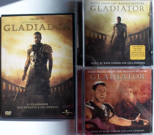 gladiator - dvd + 2 cd soundtrack imp. usa