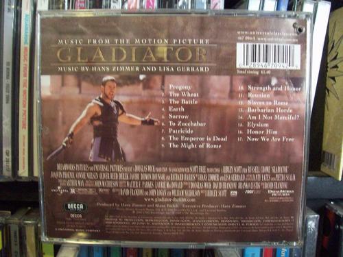 Gladiator Soundtrack Cd En Excelente Estado - $ 250 00