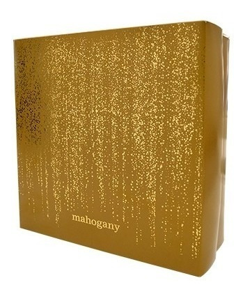 glam 100ml + hidratante 200ml mahogany original + caixa kit