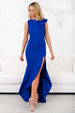 Modelos con vestido azul rey