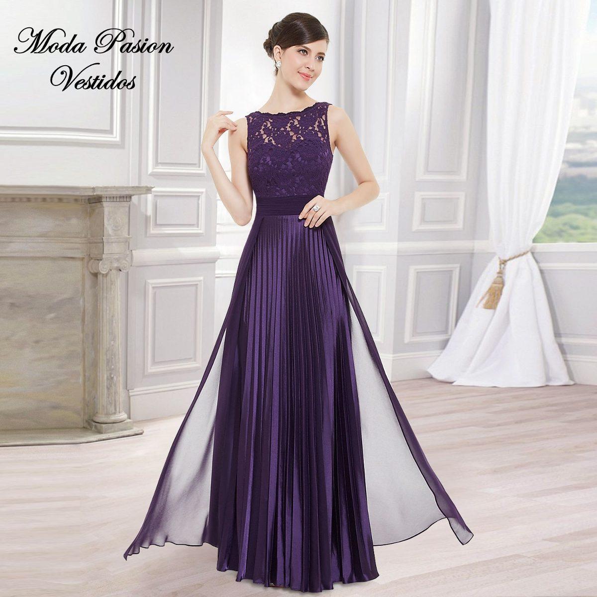 f051fbc1d glamoroso vestido plisado largo madrina bodas moda pasion. Cargando zoom.