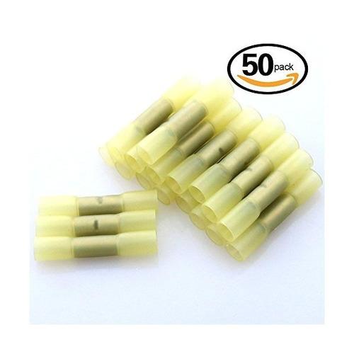 glarks 50pcs 12-10 gauge empalme a tope de nylon impermeable