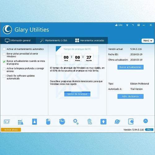 glary utilities profesional  |  permanente