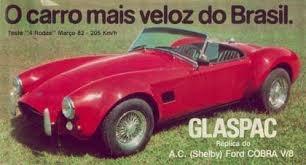glaspac original shelby cobra placa preta - ñ mustang camaro