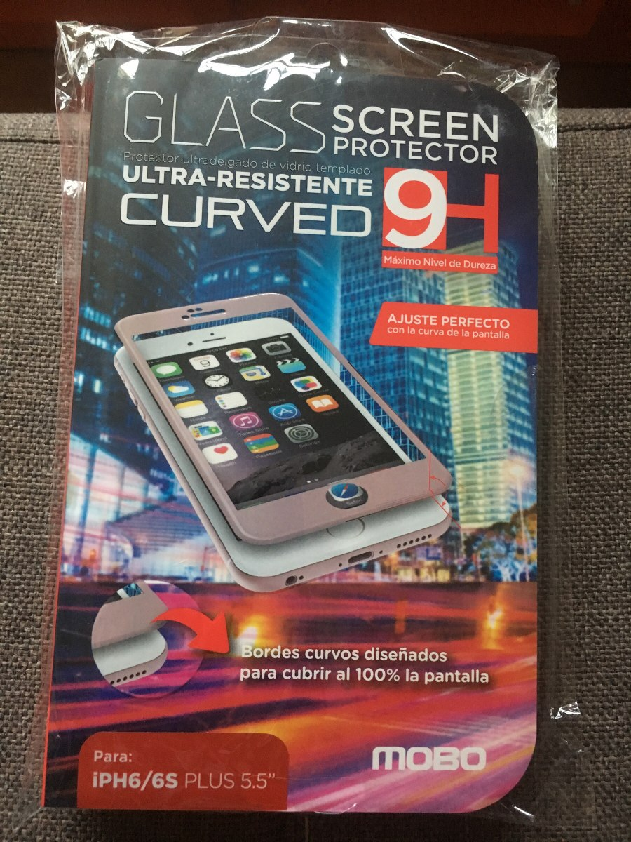 ee3303fc529 glass screen protector para iphone 6/6s plus color rosa mobo. Cargando zoom.