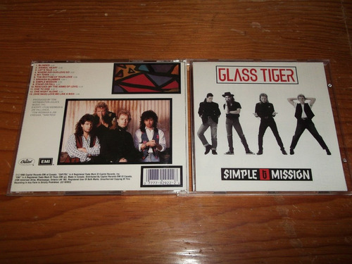 glass tiger - simple mission cd importado ed 1990 mdisk