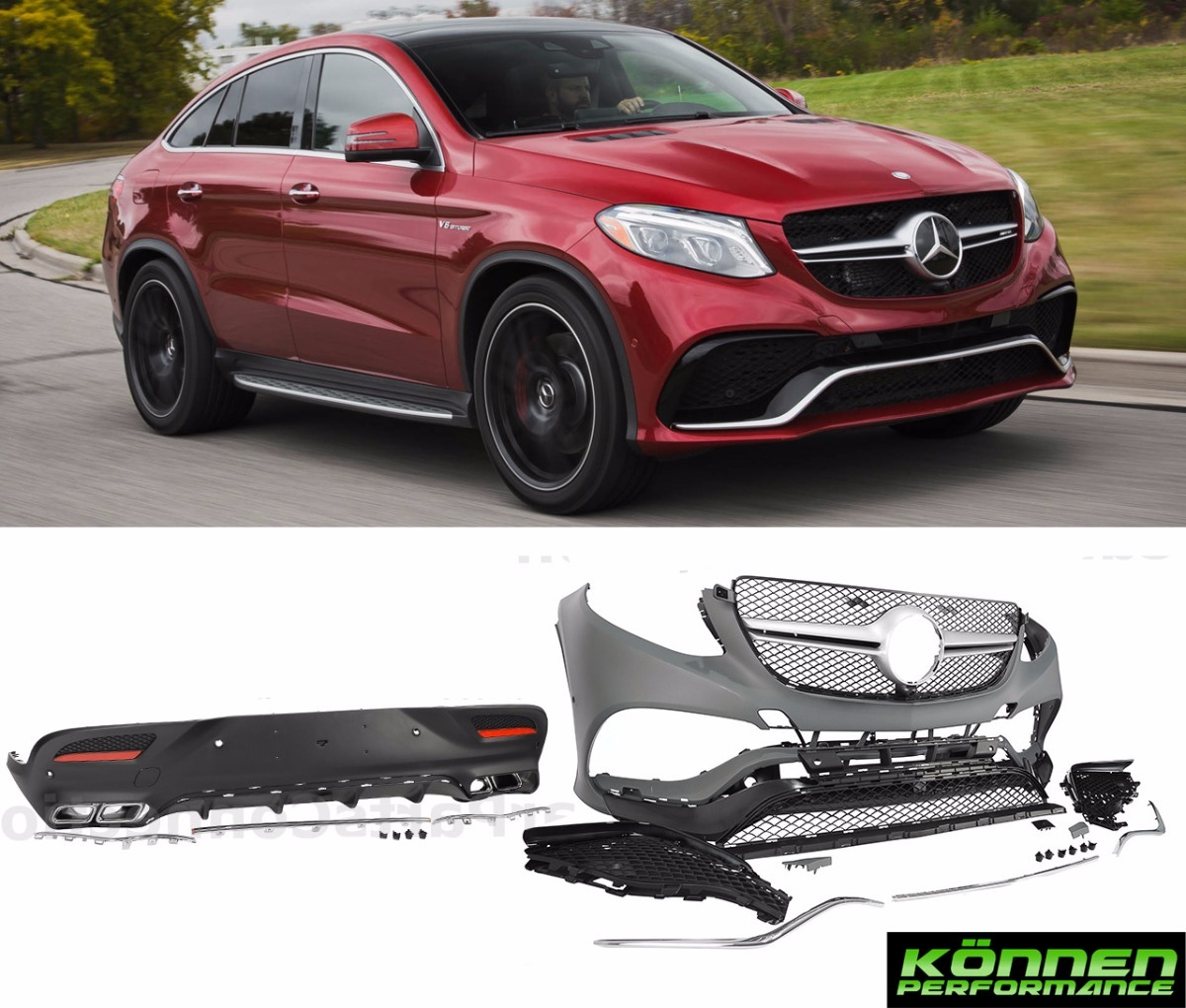 2016 Mercedes Benz Gle Coupe Exterior: Gle Coupe Body Kit Gle63 Amg 16-17 Mercedes Facia Defensa