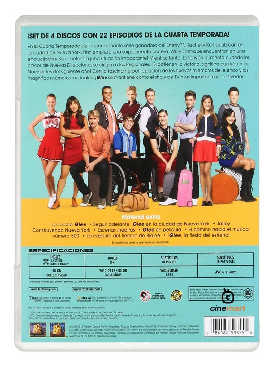 Glee Cuarta Temporada 4 Serie Bluray - $ 349.00 en Mercado Libre