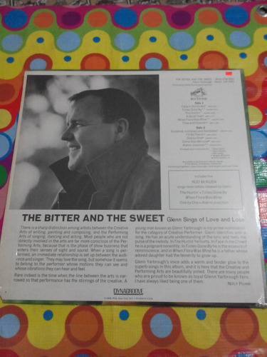 glenn yarbrougt lp the bitter & the sweet. 1968 u.s.a.