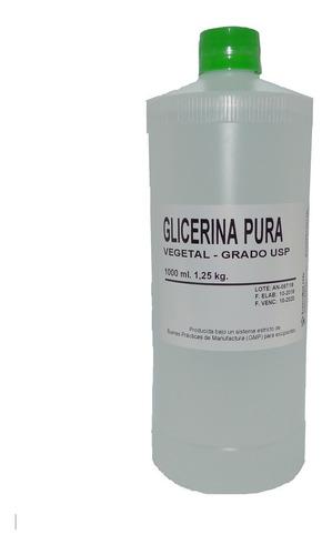 glicerina liquida (vegetal) usp - frasco 1 lt (1,25 kg)