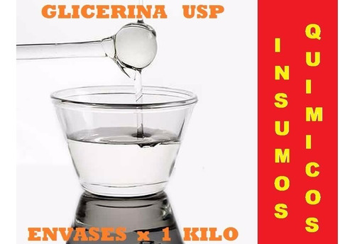glicerina liquida x 1 kilo grado usp  vg
