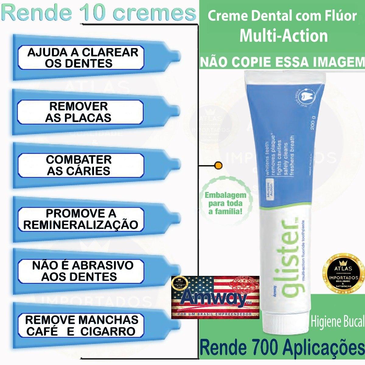 Glister Creme Dental 200g Amway Multi Action Pasta De Dente R 29