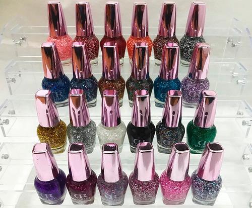 gliter esmalte de uñas para increibles efectos 24 colores