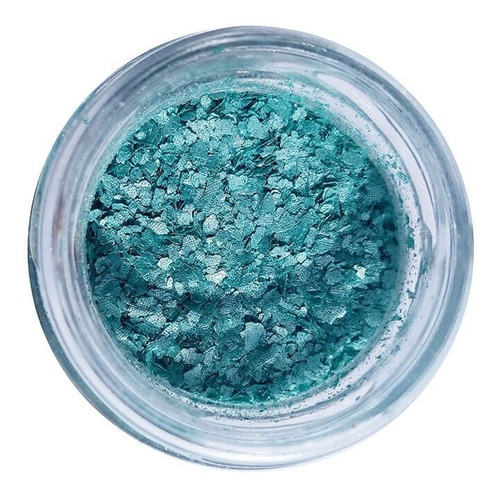 glitter biodegradável ecológico 1g -  pura bioglitter azul
