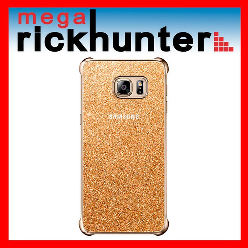 glitter cover galaxy s6 edge plus + 100% original dorado