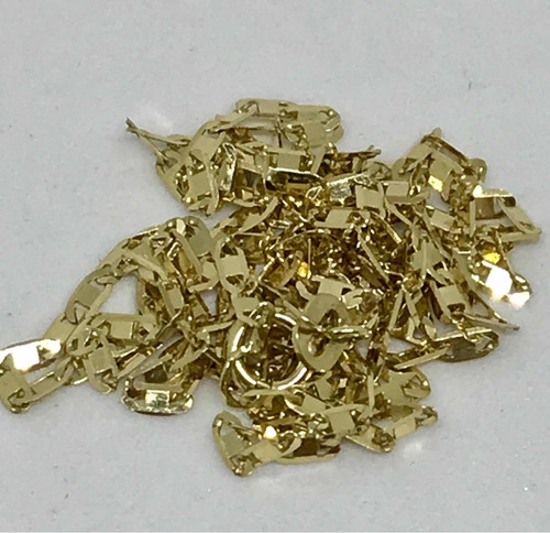glitter joias - corrente cordão piastrine ouro 18k 2 gramas