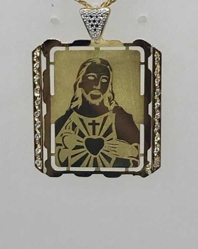 glitter joias - pingente berloque cristo ouro 18k e diamante