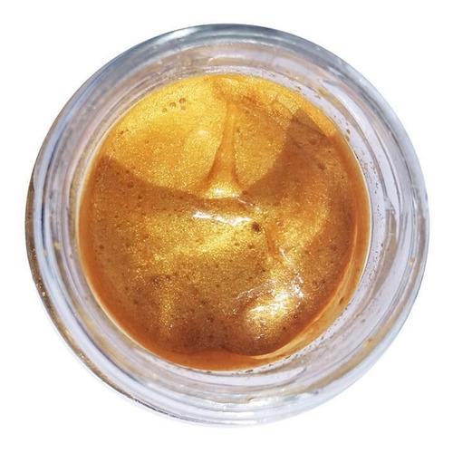 glitter natural e biodegradável em pasta - dourado