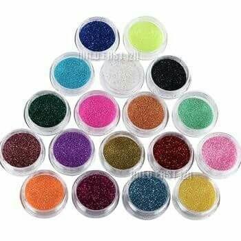 glitter purpurina pigmento decoración uñas esculpidas