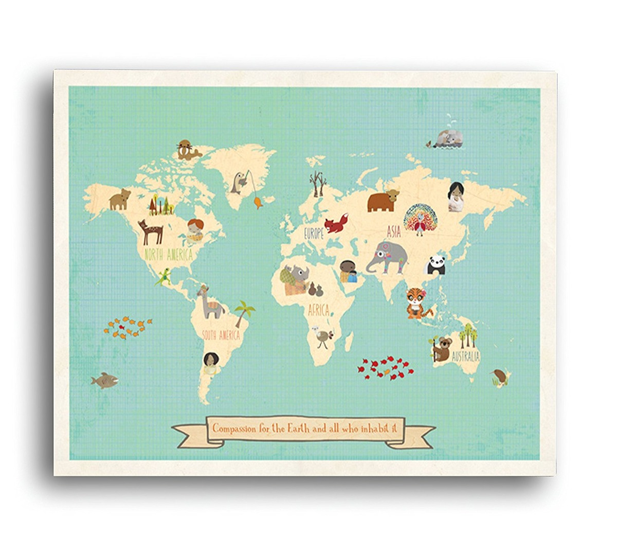 Global compassion world map 24x18 print childrens wall art global compassion world map 24x18 print childrens wall art cargando zoom gumiabroncs Image collections