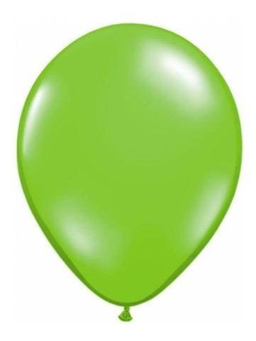 globo 12  standar verde manzana 10 unidades
