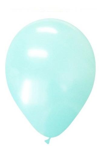 globo 12  verde agua 10 unidades