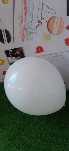 globo 42 centimetros redondo qualatex color blanco 250 unid.