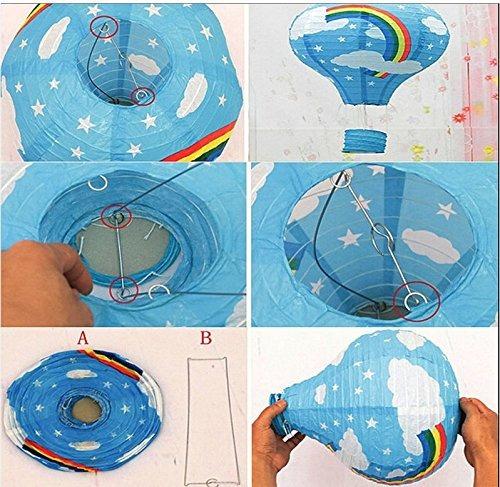 globo aerostático linterna de papel fiesta china japonesa