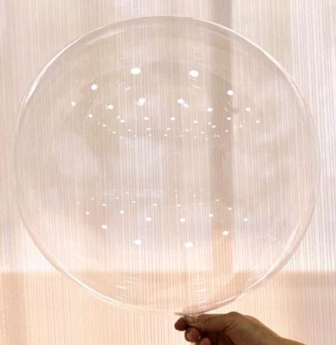 globo burbuja 24 pulgadas transparente