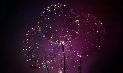 globo burbuja led con helio 18 pulgadas cristal luminosos