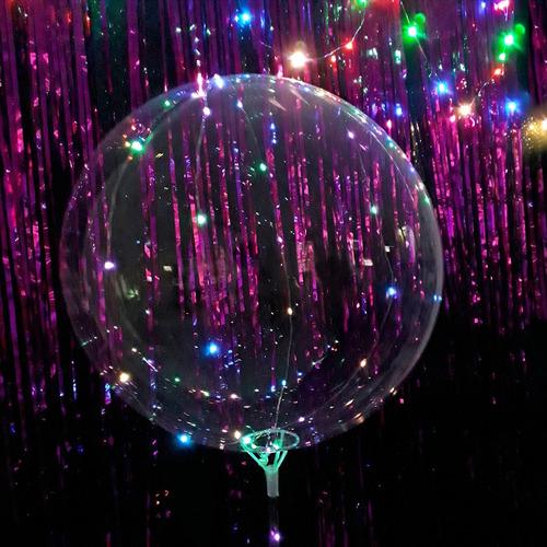 globo burbuja led x 10 unid multicolor 30 luces luminoso  cc