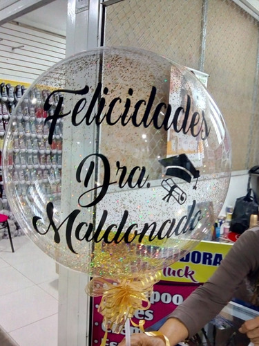 globo burbuja personalizado!